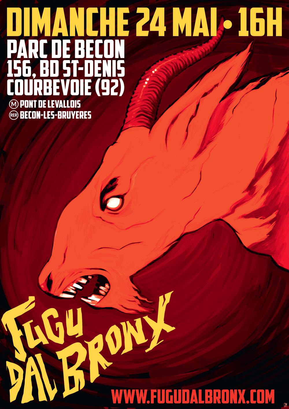 Affiche Fugu-chevre-rouge smaller